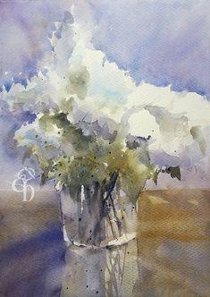 Hydrangea Watercolourart Edo Hannema  #saunderswaterford #stCMill
