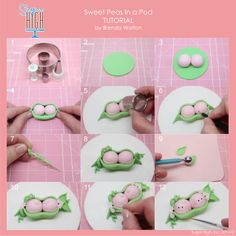 Fondant Sweet Peas in a Pod TUTORIAL