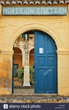 Stock Photo - The Spetses Museum (Hatziyiannis - Mexis mansion, century) Spetses island, Attica, Greece Attica Greece, Entrance Gates, Mediterranean Sea, Argos, Greek Islands, Athens, 18th Century, Destinations, Museum
