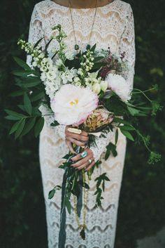 Belle & Bunty Bridal inspiration- amazing boho floral bouquet