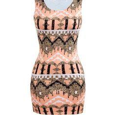 Yoins Multicolor Print Sleeveless Mini Dress ($12) ❤ liked on Polyvore featuring dresses, black, multi-color dress, round neck sleeveless dress, pattern dress, short dresses and multicolored dress