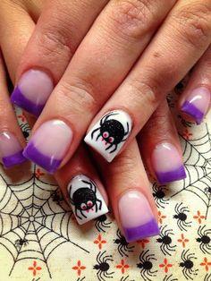 Top Spider Nail Art Designs