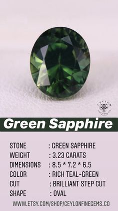Ceylon Sapphire, Sapphire Stone, Natural Sapphire, Loose Gemstones, Natural Gemstones, Green Sapphire Engagement Ring, Teal Green, Blue, Ring Settings