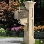 Grandin Road Liberty Mailbox Made Of Metal And Soft Color Design