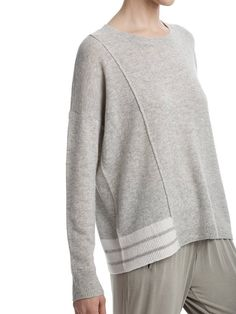 ATM Cashmere Sweater - HEATHER GREY   Garmentory
