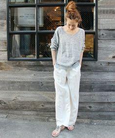 FRAMeWORK(フレームワーク)の「L/R ワイドイージーパンツ。(パンツ)」です。このアイテム着用のコーディネートをチェックすることもできます。 Japan Fashion, Daily Fashion, Love Fashion, Womens Fashion, Normcore Fashion, Fashion Pants, Fashion Outfits, Black White Fashion, Minimal Fashion