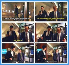 Agents of S.H.I.E.L.D. Haha, poor Coulson. Ward ruined it for him ;)