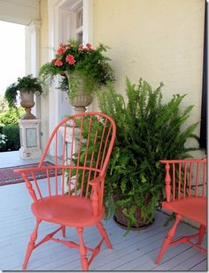 Coral painted furniture front porches 60 Ideas for 2019 White Bedroom Furniture Ikea, Bedroom Furniture Makeover, Living Room Furniture Layout, Porch Furniture, Diy Pallet Furniture, Deco Furniture, Garden Furniture, Outdoor Furniture Sets, Outdoor Spaces