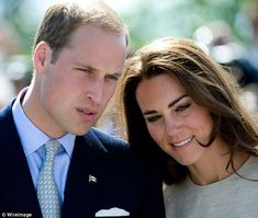 The perfect team: Prince William with his wife Kate, Duchess of Cambridge by his side in Yellowknife, Canada, during the couple's first royal tour last June