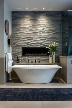 If you have a small bathroom in your home, don't be confuse to change to make it look larger. Not only small bathroom, but also the largest bathrooms have their problems and design flaws. Modern Bathroom Tile, Contemporary Bathroom Designs, Bathroom Interior Design, Decor Interior Design, Small Bathroom, Master Bathroom, Bathroom Ideas, Cozy Bathroom, Bathroom Gray