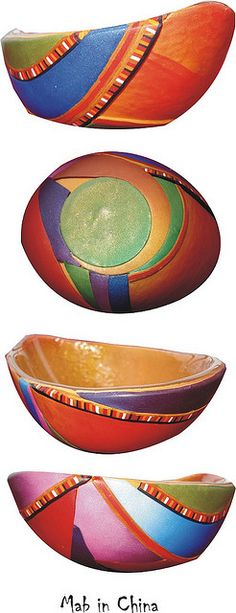 bowl - metallic clays leftovers by Ma-belette, via Flickr
