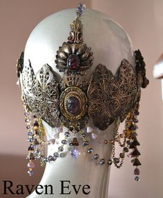 Art Nouveau Headdress Mucha Goddess Your own by ravenevejewelry, $629.00 totally wear to work for me