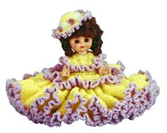 """0759 Crochet Pattern 13"""" SHANNON Bed Doll By Td Creations"""