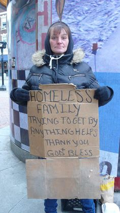 A new project replaces the handwritten signs of homeless people with eye catching recreations