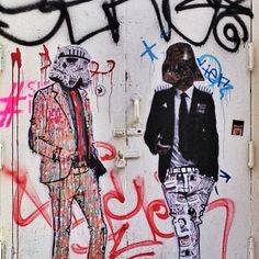 another star wars Darth Vader and graffiti storm trooper Work by @stikki_peaches • NYC, USA
