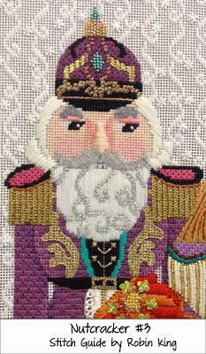 "Needlepoint Study Hall: Jolly Nutcrackers by dede Ogden and Robin King   ""LOOK AT THAT BACK GROUND STITCH"""
