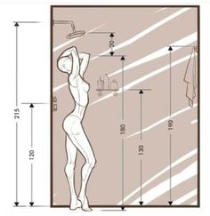 Bathroom Layout Plans, Small Bathroom Layout, Small Bathroom Dimensions, Home Room Design, Home Interior Design, House Design, Bad Inspiration, Bathroom Inspiration, Bathroom Design Luxury