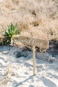 Beach wedding sign idea - wooden sign pointing toward the ceremony {Riverland Studios} Beach Wedding Signs, Beach Wedding Favors, Wedding Signage, Nautical Wedding, July Wedding, Wedding 2017, Beach Weddings, Wedding Wishes, Destination Wedding