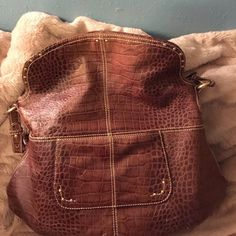 Maxx NY  leather handbag Real leather 18 inch long 16 inch tall 2 pocket on each side of the bag and 3 4 more inside wit leopard lining beautiful Max NY bag Max NY  Bags