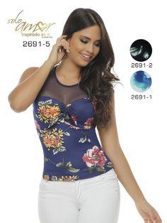 Blusa Moda Colombiana Solo Amor - Ref. 246 -2691-1 Blanco 1, Tank Tops, Ideas, Women, Fashion, Dresses, Blouses, Halter Tops, Moda