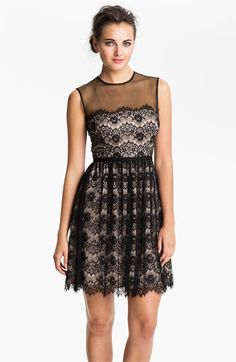 Maggy London Lace Fit & Flare Dress available at #Nordstrom; holy crapsticks I love this dress!