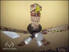 Realtree Camo Ceiling Fan  #Realtreecamo #camodecor