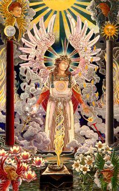 Sandalphon. Archangel of Malkuth By Ross trebilcock