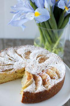 Woman in the kitchen: (Norwegian Apple Cake)