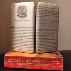 """Harry Potter Themed Book Page Wallet  """"Godric's Hollow"""" by TheNerdBoutique on Etsy  Great gift idea for a book lover!"""