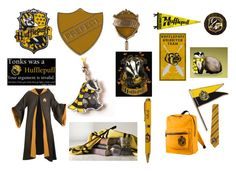 """Hufflepuff"" by buttercreamkisses ❤ liked on Polyvore featuring art"