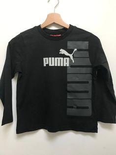 b1a029f8a6d8f T-shirt noir Puma - T-shirt Puma noir pour garçon à manches longues