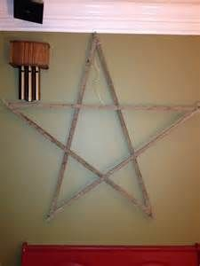 The star I made from tobacco sticks