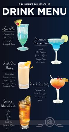 20 of the Best Two-Ingredient Cocktails - Infographic of easy cocktail recipes