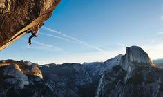 Dean Potter on Glacier Point, Yosemite.