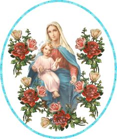 Glory to God.Hail, Holy Mother of God for your Yes to Our Heavenly Father that brought forth His Holy Spirit to give us Jesus, Our Savior incarnate. Blessed Mother Mary, Blessed Virgin Mary, Mary And Jesus, Jesus Is Lord, Religious Images, Religious Art, Verge, Christian Pictures, Mama Mary