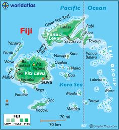 Fiji Large Color Map