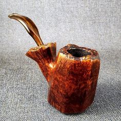 Carved Tobacco Pipe Estate pipe Vintage Rustic Smoking Pipe smokers accessory tiny bowl Briar pipe Small collectable pipe man cave