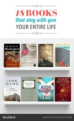 18 Books That Stay with You Your Entire Life——— Have already read 5 on the list. Looking forward to the rest of the list. I Love Books, Good Books, Books To Read, My Books, Teen Books, Book Club Books, Book Nerd, Book Lists, Book Suggestions