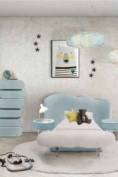 Cloud themed room ideas | Get an amazing cloud themed room with Circu magical furniture! Find more at: CIRCU.NET