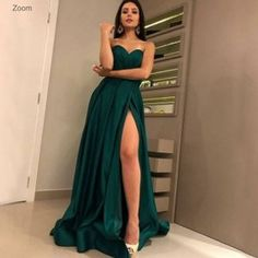 Dark Green Prom Dresses, A Line Prom Dresses, Grad Dresses, Sexy Dresses, Strapless Dress Formal, Fashion Dresses, Bridesmaid Dresses, Stunning Dresses, Chiffon Dresses