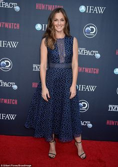 Good cause:Minka Kelly attends special screening for a new show on Discovery Impact called Huntwatch on Thursday in LA