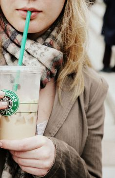 a cute scarf & Starbucks, the perfect accessories