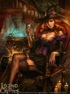 f npc Witch hilvl Hat Cauldron urban City story
