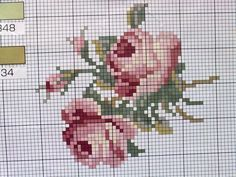 cross stitch roses Cross Stitch Rose, Cross Stitch Flowers, Cross Stitch Charts, Cross Stitch Patterns, Christmas Embroidery Patterns, Baby Embroidery, Cross Stitch Embroidery, Needlework, Printable