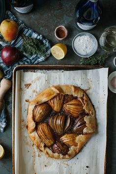 A Daily Something | Spiced Pear Galette And Maple Whipped Cream With Paluzzi Moscato d'Asti
