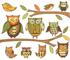 Owl Peel and Stick Wall Mural in Orange - http://www.theboysdepot.com/owl-peel-and-stick-wall-mural-in-orange.html