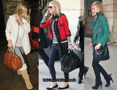 Kate Moss and her Longchamp Bags - Polonchon Gloster Tote, Suede and Calf Glastonbury Shoulder Bag