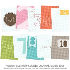 Everyday Number Journal Cards ·CU·