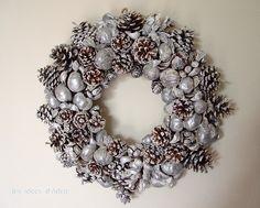 Natale: corona argento