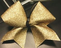 Gold Full-On Glitter Cheer Bow $12